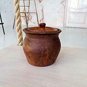 Посуда ручной работы. Ярмарка Мастеров - ручная работа Горшочек разносторонний. Handmade.