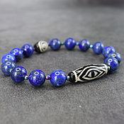 Украшения handmade. Livemaster - original item Natural lapis lazuli bracelet ji