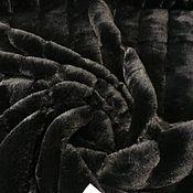 Материалы для творчества handmade. Livemaster - original item Fabric: Eco fur black Stella McMacartney. Handmade.