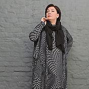 Одежда handmade. Livemaster - original item Tunic long square black-grey mosaic. Art. 1254. Handmade.