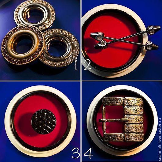 Шитье ручной работы. Ярмарка Мастеров - ручная работа. Купить Люверсы со стразами крупные 3 цвета: латунь, серебро, черное серебро. Handmade.