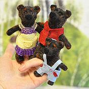 Куклы и игрушки ручной работы. Ярмарка Мастеров - ручная работа Игрушка пальчиковая Семейка медведей. Handmade.