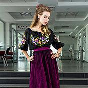 Одежда ручной работы. Ярмарка Мастеров - ручная работа Блузка черная с вышивкой. Handmade.