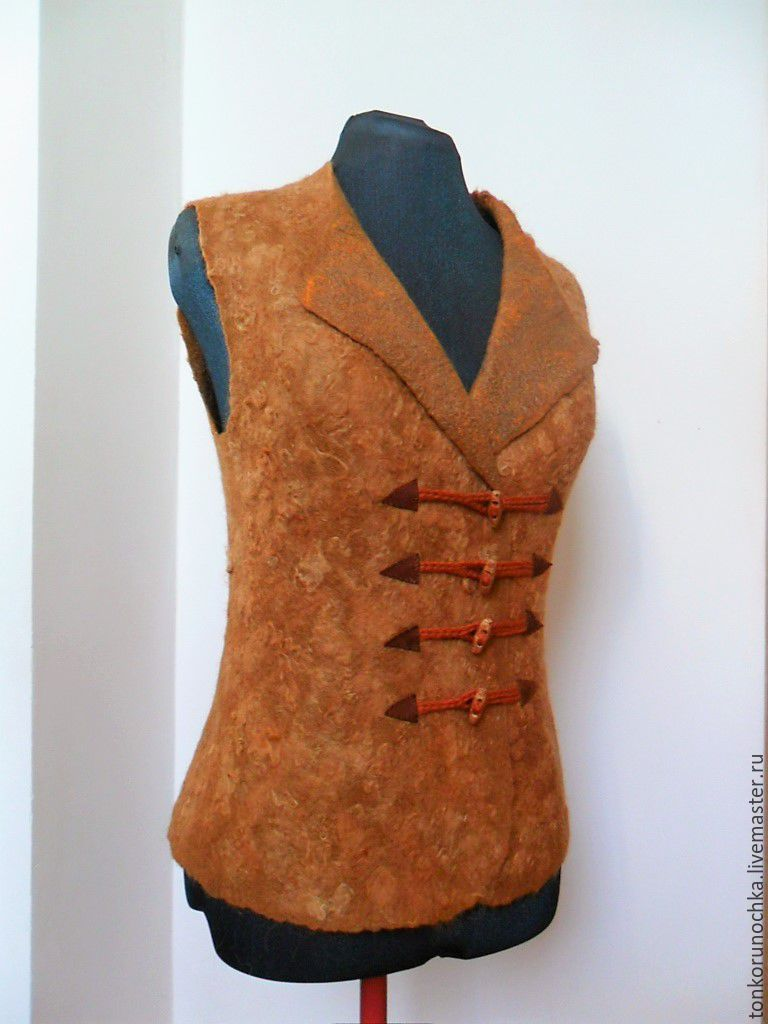 felted vest 'stylish fox', Vests, Yeisk,  Фото №1
