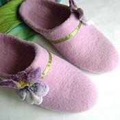 Обувь ручной работы. Ярмарка Мастеров - ручная работа Тапочки Нежные цветы. Авторская работа. Handmade.