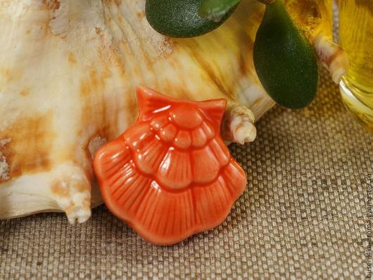 Для украшений ручной работы. Ярмарка Мастеров - ручная работа. Купить Аромакулон керамический №10 (красный). Handmade. Аромакулон, ароматерапия