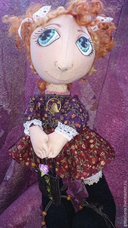 Куклы тыквоголовки ручной работы. Ярмарка Мастеров - ручная работа. Купить Текстильная кукла Аннушка. Handmade. Разноцветный, текстильная кукла