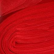 Материалы для творчества ручной работы. Ярмарка Мастеров - ручная работа Красный фатин. Handmade.