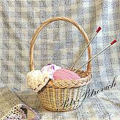 Для дома и интерьера ручной работы. Ярмарка Мастеров - ручная работа Корзина круглая. Handmade.