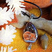 """Подвеска ручной работы. Ярмарка Мастеров - ручная работа Кулоны  """"Осенние сны. Первый снег"""". Handmade."""