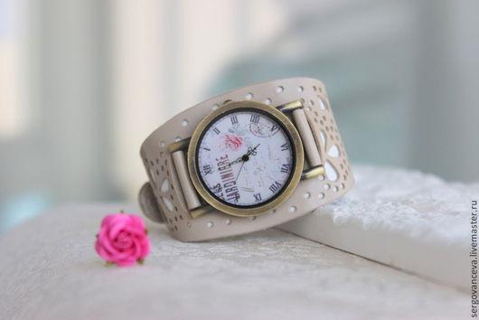"""Часы ручной работы. Ярмарка Мастеров - ручная работа. Купить Часы наручные женские """" Нежный букет"""". Handmade. Бежевый"""
