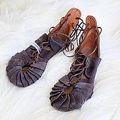"""Обувь ручной работы. Ярмарка Мастеров - ручная работа Кожаные сандалии """"Дочь Фьордов"""". Handmade."""