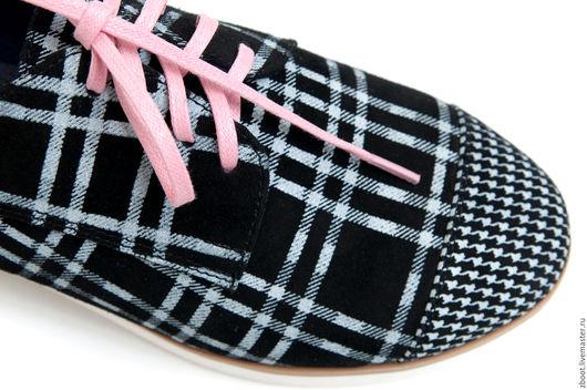 Обувь ручной работы. Ярмарка Мастеров - ручная работа. Купить Акция! Туфли Polo. Handmade. Чёрно-белый, демисезонная обувь