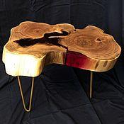 Столы ручной работы. Ярмарка Мастеров - ручная работа Кофейный столик из акации с красной смолой «Bloody Mary». Handmade.
