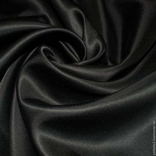 Шитье ручной работы. Ярмарка Мастеров - ручная работа. Купить Шелк атлас черный  ROBERTO CAVALLI. Handmade. Ткани Италии