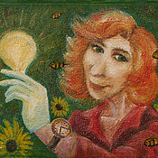 """Картины и панно ручной работы. Ярмарка Мастеров - ручная работа Картина на заказ по фотографии """"Несущая свет"""". Handmade."""