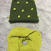 Работы для детей, ручной работы. Ярмарка Мастеров - ручная работа Комплект шапочка и снуд. Handmade.