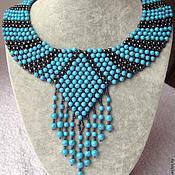 Украшения handmade. Livemaster - original item Necklace with turquoise and hematite. Handmade.