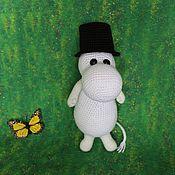 handmade. Livemaster - original item Moomintroll knitted toy. Handmade.