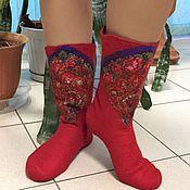 Аксессуары ручной работы. Ярмарка Мастеров - ручная работа валяные носочки. Handmade.