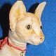 Куклы и игрушки ручной работы. Ярмарка Мастеров - ручная работа. Купить Ориентальная кошка Клеопатра, реалистичная игрушка. Handmade. Бежевый