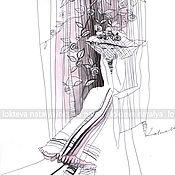 """Картины и панно handmade. Livemaster - original item Interior graphics""""lady in hat"""". Handmade."""