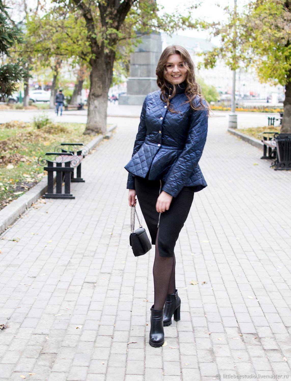 Стеганая курточка с баской, Куртки, Пенза, Фото №1