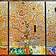 """Символизм ручной работы. Ярмарка Мастеров - ручная работа. Купить Триптих картин """"Древо жизни. Густав Климт"""". Золото. Символизм. Handmade."""