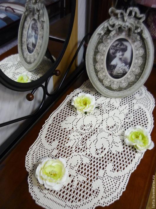 """Текстиль, ковры ручной работы. Ярмарка Мастеров - ручная работа. Купить Дорожка вязаная крючком """"Букет английских роз"""". Handmade."""