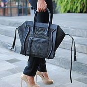 Сумки и аксессуары handmade. Livemaster - original item Python Phantom leather bag. Handmade.