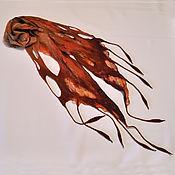 Шарфы ручной работы. Ярмарка Мастеров - ручная работа Шарф валяный Осень. Осенний шарфик из шерсти и шелка. Handmade.