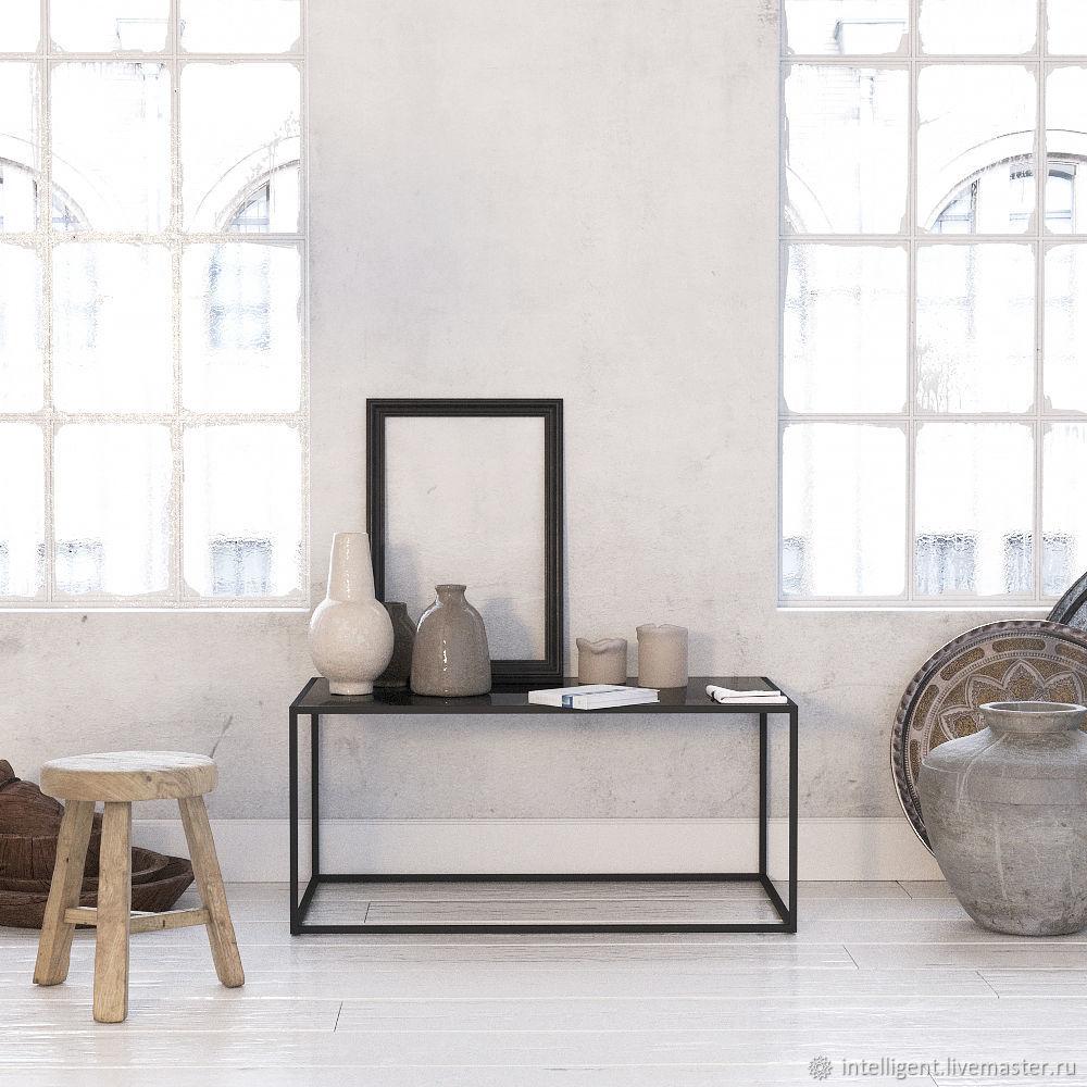 Мебель ручной работы. Ярмарка Мастеров - ручная работа. Купить Журнальный стол London black черное стекло. Handmade. Стол