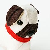 """Мягкие игрушки ручной работы. Ярмарка Мастеров - ручная работа Мопс """"Джери"""" - ручная собачка с переноской. Handmade."""