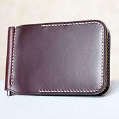 Сумки и аксессуары handmade. Livemaster - original item Wallet with money clip Burgundy (Horween leather ). Handmade.