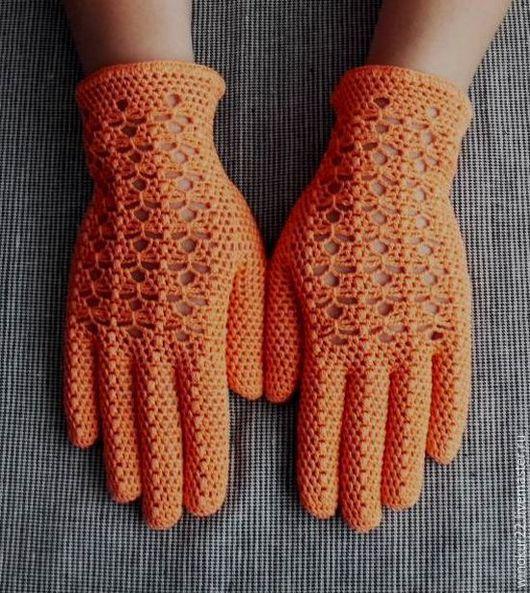 """Варежки, митенки, перчатки ручной работы. Ярмарка Мастеров - ручная работа. Купить Перчатки  ажурные """" Одри"""". Handmade. Однотонный"""