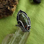 Кольца ручной работы. Ярмарка Мастеров - ручная работа Кольцо с унакитом. Handmade.