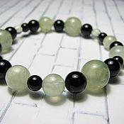 Украшения handmade. Livemaster - original item Prenite and black agate bracelet