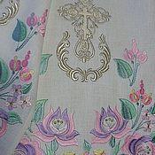 Рушники ручной работы. Ярмарка Мастеров - ручная работа Свадебный рушник на икону. Handmade.