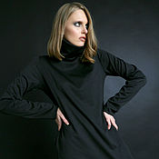 Платья ручной работы. Ярмарка Мастеров - ручная работа Черное трикотажное платье. Handmade.