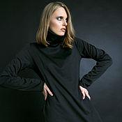 Dresses handmade. Livemaster - original item Black knitted dress. Handmade.