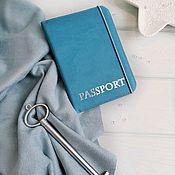 Обложки ручной работы. Ярмарка Мастеров - ручная работа Обложка на паспорт ручной работы из итальянского кожзама. Handmade.