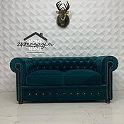 Для дома и интерьера handmade. Livemaster - original item 2-seater Chesterfield sofa with sleeping space. Handmade.