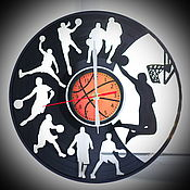 "Для дома и интерьера handmade. Livemaster - original item Wall clock ""Basketball"". Handmade."