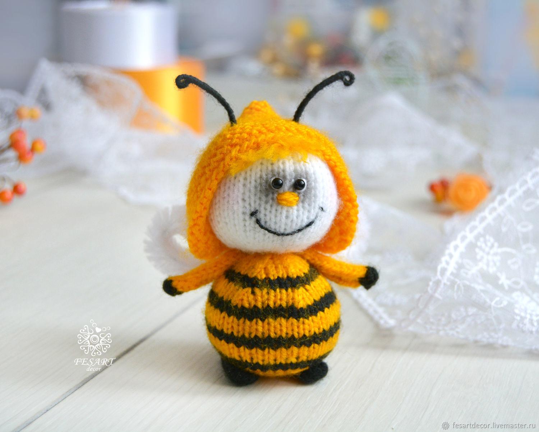 Bee knitted, Stuffed Toys, Lipetsk,  Фото №1