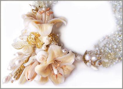 """Колье, бусы ручной работы. Ярмарка Мастеров - ручная работа Колье """"Fleur de lis"""". Handmade."""