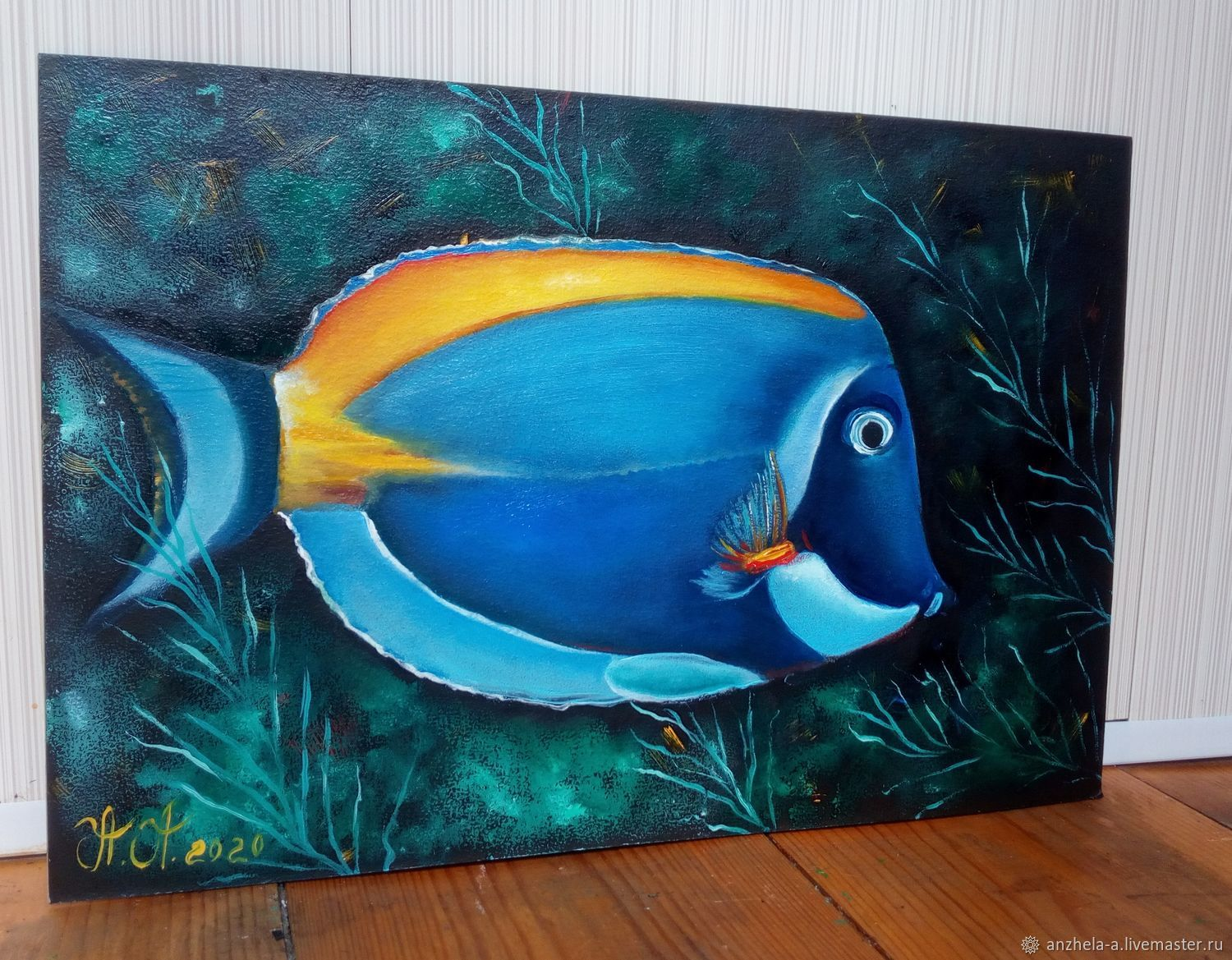 'Space fish ' 20/30 author's oil, Pictures, Moscow,  Фото №1