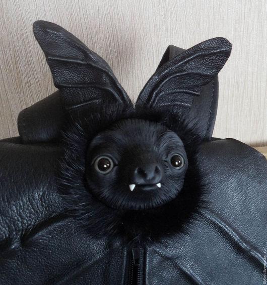 Рюкзаки ручной работы. Ярмарка Мастеров - ручная работа. Купить Рюкзак про летучую мышь. Handmade. Черный, Глаза