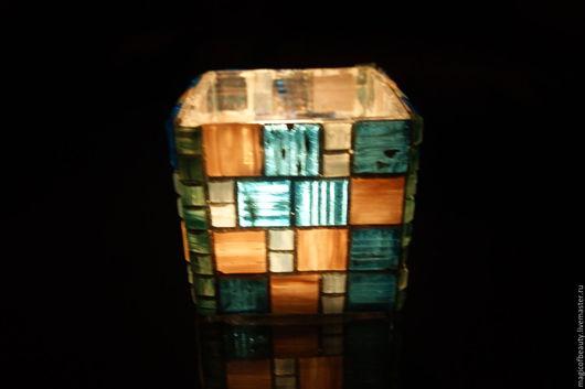 Подсвечник ручной работы.Ярмарка Мастеров-ручная работа.Купить  Подсвечник из мозаики квадратный. Ирина Колесихина Разноцветный,свеча,подарок.