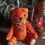 Мишки Тедди ручной работы. Ярмарка Мастеров - ручная работа Мишка Тедди Джинджер яркая красотка. Handmade.