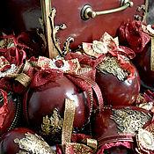 Сувениры и подарки handmade. Livemaster - original item A large set of Christmas tree pendants in a box. Handmade.